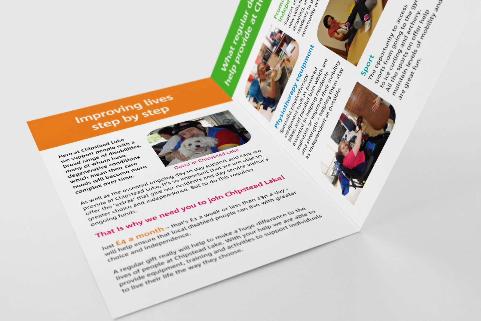 a5 leaflet design charity