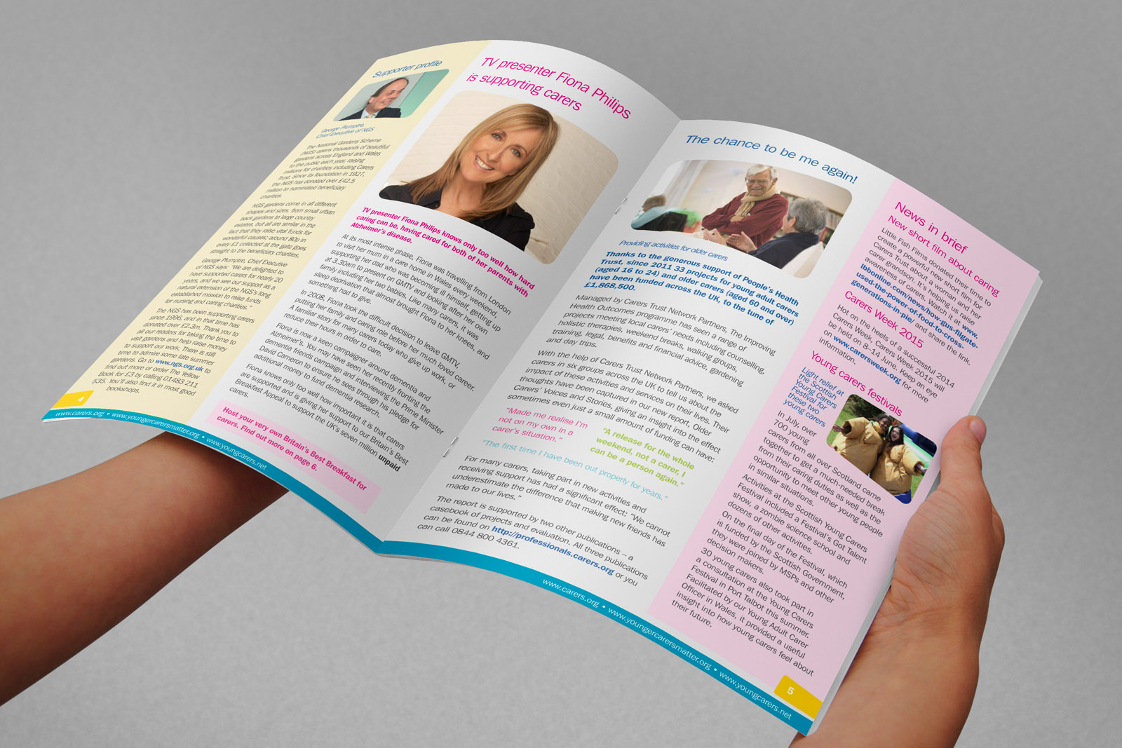 charity magazine design