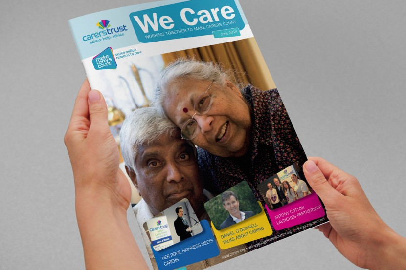 charity magazine graphic design
