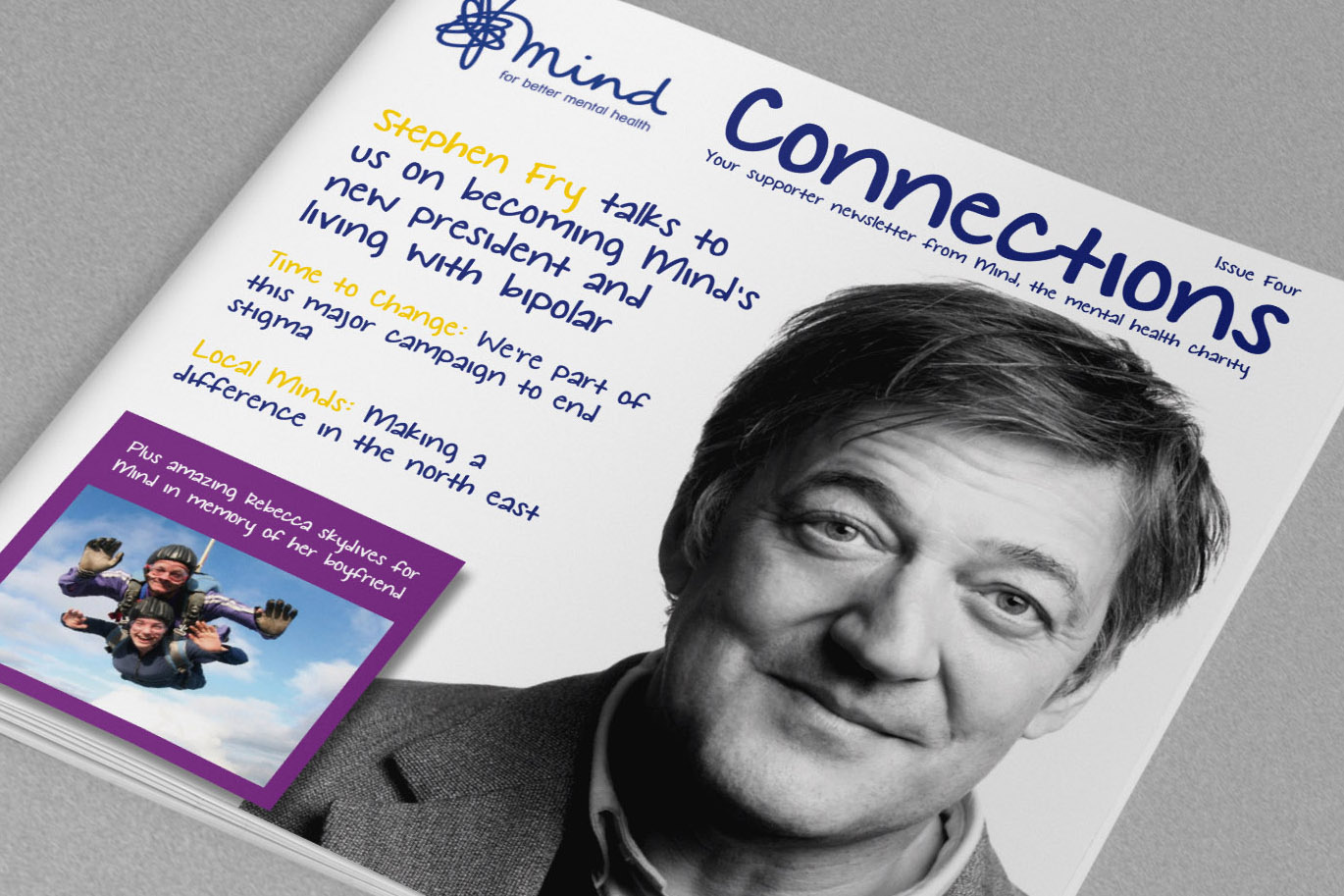 Mind Charity Newsletter cover design