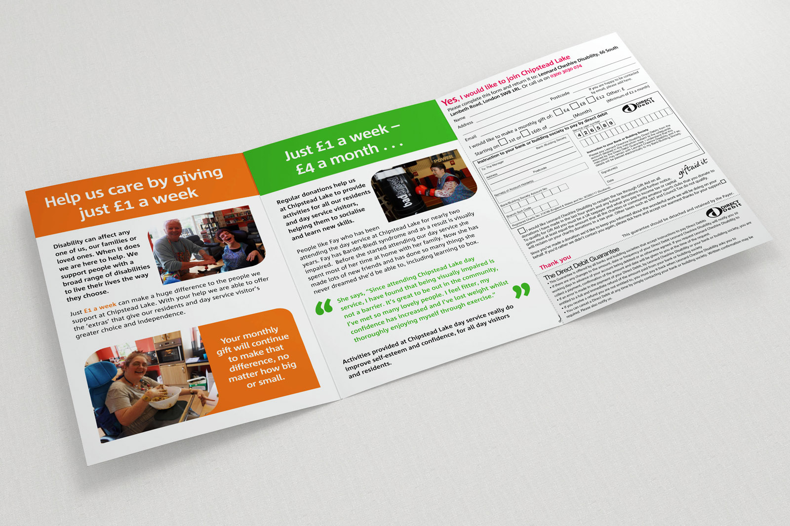 charity a5-bifold leaflet artwork