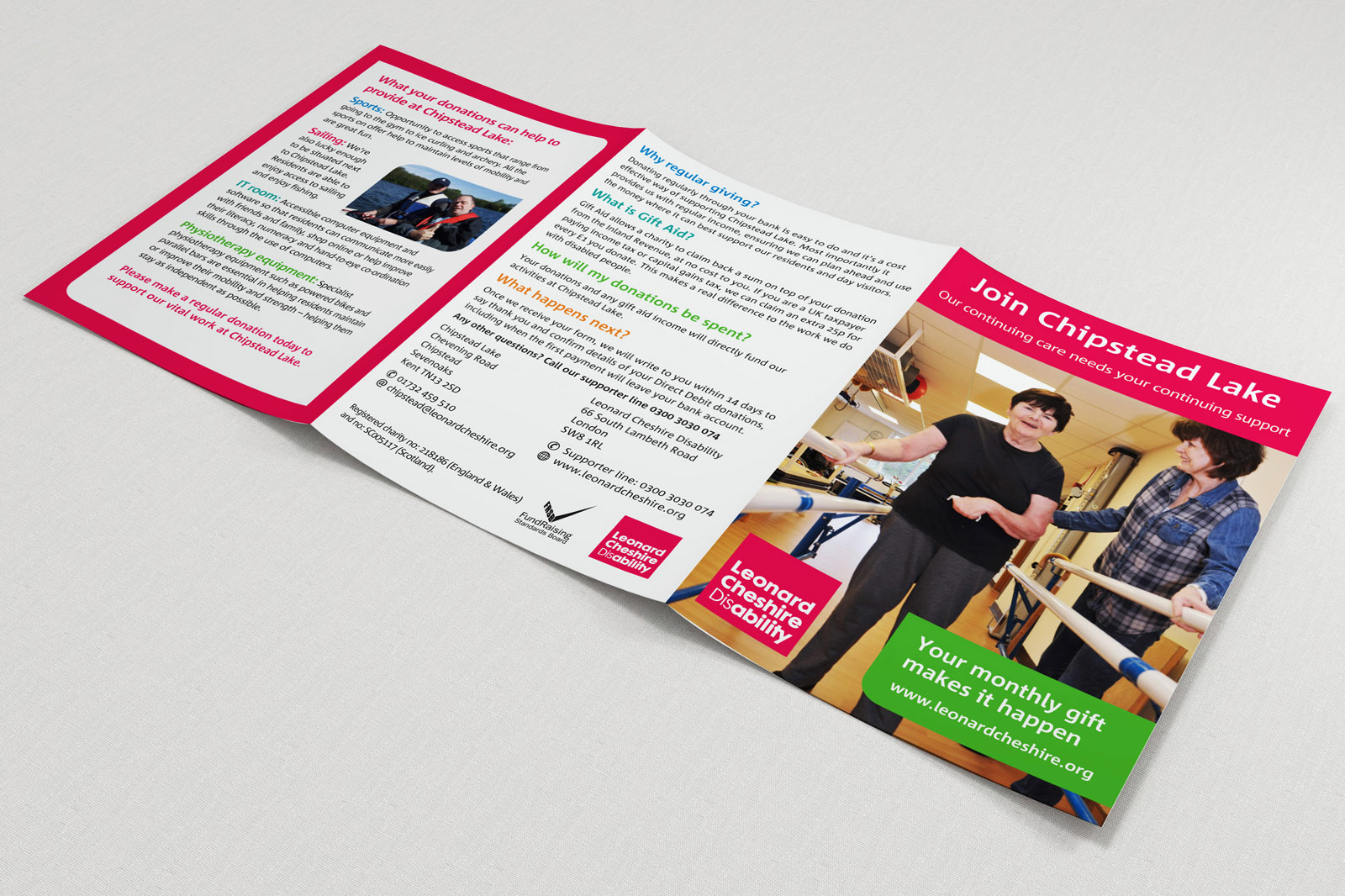 charity a5 leaflet artwork