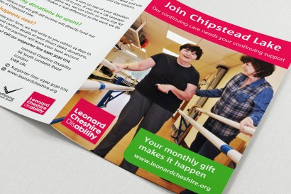 charity a5 leaflet design